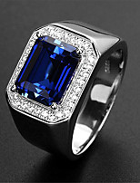 cheap -Women's Ring Synthetic Sapphire 1pc Green Blue Platinum Plated Alloy Stylish Wedding Gift Jewelry Cute