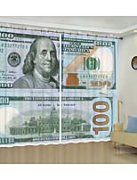 Недорогие -декоративные занавес один доллар цифровая печать 3d занавес затенение занавес высокой точности черный шелк ткань высокого качества класс затенение спальня гостиная занавес