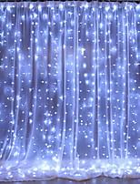 Недорогие -1 шт. 3 * 2 м светодиодные занавес строки огни 240 светодиодов рождественские гирлянды гирлянды дома декоративные огни для свадьбы / партии / украшения сада