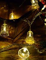 Недорогие -10 м гибкие светодиодные полосы / струнные светильники 100 светодиодов холодный белый / теплый белый декоративные / рождественские украшения свадьбы / творческий 220 В 1 шт.