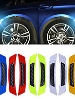 cheap -4pcs/lot Car Door Wheel Eyebrow Reflective Sticker Auto Carbon Fiber Reflective Sticker Anti-collision Warning Reflector Protection