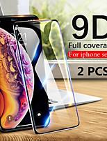 Недорогие -2шт 9d закаленное стекло полный экран протектор для iphone 11/11 pro / 11 pro max / xs max / xr / xs / x