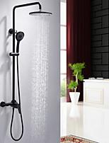 Недорогие -Смеситель для душа - Современный Хром Душевая система Керамический клапан Bath Shower Mixer Taps