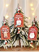 Недорогие -3 шт. Поделки рождественская елка кулон украшения деревянные поделки на рождественскую вечеринку детям подарок