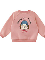 Недорогие -Дети (1-4 лет) Девочки Классический С принтом Длинный рукав Свитер / кардиган Розовый