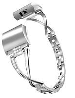 abordables -bracelet de montre pour fitbit charge3 fitbit bijoux design bracelet en acier inoxydable
