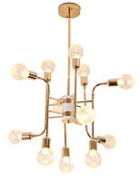 Недорогие -12 светильников роскошные золотые люстры в стиле свечей европейские современные светильники для гостиной столовой магазины кафе светодиодные лампы g9 не включены