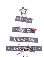 Недорогие -рождественская елка письмо деревянная подвеска вечеринка подвеска главная дверь орнамент рождество ремесло