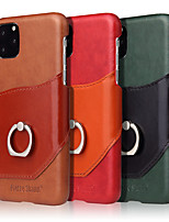 cheap -Apple Case For iPhone XR XS XSMAX X SE 11 11Pro 11ProMax Card Holder Shockproof Ring Holder Back Cover Solid Colored PU Leather