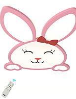 Недорогие -led40w новинка скрытого монтажа розового кролика потолочные светильники b модель для спальни детская комната теплый белый белый затемняемый с пультом дистанционного управления