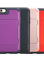 Недорогие -Кейс для Назначение Apple iPhone XS / iPhone XR / iPhone XS Max Защита от удара Кейс на заднюю панель Однотонный ПК / силикагель