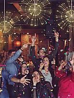 Недорогие -1 компл. Фестиваль висят звездообразования гирлянды 150 светодиодов diy фейерверк медь фея гирлянда рождественские огни открытый мерцающий свет