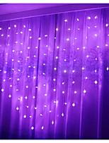 Недорогие -2,5м Гирлянды 138 светодиоды Фиолетовый Декоративная 220-240 V 1 комплект