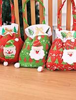 Недорогие -новогодние рождественские подарки санта клаус снеговик конфеты сумки висит сумка с рождеством хранения