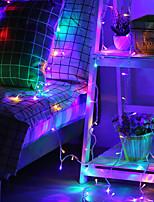 Недорогие -10м гибкие светодиодные полосы света 100 светодиодов 5050 smd 2.3мм 1 x он-лайн диммер dwitch теплый белый / многоцветный креатив / новый дизайн / вечеринка 220 v 1 комплект