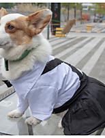 Недорогие -Собаки Коты Животные Платья Одежда для собак Классика Черный Полиэстер Костюм Назначение Лето Свадьба