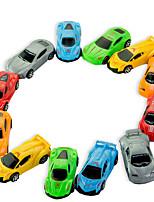Недорогие -Игрушечные машинки Автомобиль Ручная работа Взаимодействие родителей и детей Пластиковый корпус Детские Мальчики и девочки Игрушки Подарок 12 pcs