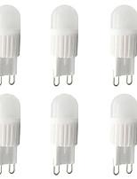 Недорогие -6шт 3 W LED лампы типа Корн Двухштырьковые LED лампы 300 lm G9 T 1 Светодиодные бусины Высокомощный LED Диммируемая Тёплый белый Белый 220 V