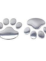 Недорогие -наклейки на автомобиль классный дизайн лапа 3d животное собака кошка след ноги след автомобиля наклейка серебро