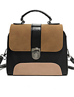 cheap -Women's Polyester / PU Top Handle Bag Color Block Brown / Green / Gray