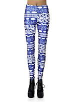 Недорогие -Жен. С высокой талией Штаны для йоги 3D-печати Эластан Фитнес Тренировка в тренажерном зале Леггинсы Спортивная одежда Дышащий Влагоотводящие Быстровысыхающий Подтяжка Эластичность Обтягивающие