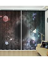 Недорогие -Волшебное пространство черная дыра охватывает 3d цифровой печатный занавес творческий занавес тени высокой точности черный шелк ткань высокого качества первоклассный оттенок спальня гостиная занавес