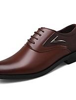 Недорогие -Муж. Комфортная обувь Полиуретан Наступила зима Туфли на шнуровке Черный / Коричневый