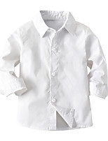 cheap -Kids Toddler Boys' Basic Street chic Solid Colored Long Sleeve Shirt White