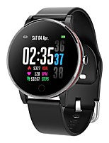 cheap -Smartwatch Digital Modern Style Sporty Silicone 30 m Water Resistant / Waterproof Heart Rate Monitor Bluetooth Digital Casual Outdoor - Black Black / Silver Gold