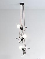Недорогие -3-Light промышленные Люстры и лампы Рассеянное освещение Окрашенные отделки Металл