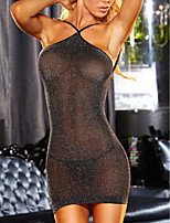 cheap -Women's Backless / Mesh Suits Nightwear Solid Colored Black One-Size