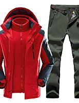 Недорогие -Муж. Куртка и брюки для пешеходного туризма на открытом воздухе Осень Зима Водонепроницаемость С защитой от ветра Удобный сохраняющий тепло Жакет