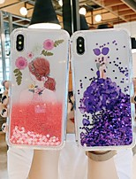 cheap -Case For Apple iPhone 11 / iPhone 11 Pro / iPhone 11 Pro Max Shockproof / Flowing Liquid Back Cover Transparent / sky / Flower TPU