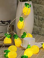 Недорогие -ананас форма плоды лампы строка 2 м 10 светодиодные лампы хэллоуин украшения фестиваль украшения аа батареи питания 1 шт.