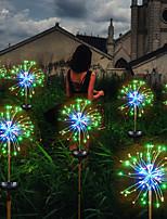 Недорогие -солнечный шнур одуванчика / газон фейерверк медная проволока лампа / 120 светодиодов 1set монтажный кронштейн теплый белый / белый / многоцветный водонепроницаемый / солнечный / день рождения