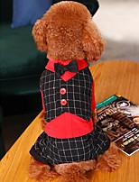 Недорогие -Собаки Коты Животные Костюм Одежда для собак Классика Красный Серый Полиэстер Костюм Назначение Лето Классика