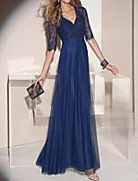 Недорогие -А-силуэт V-образный вырез В пол Кружева Платье с от LAN TING Express
