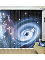 Недорогие -звезда туманность пространство черная дыра посвящает планету 3d цифровой печатный занавес творческий занавес занавес высокой точности черный шелк ткань высокое качество первоклассный занавес спальня