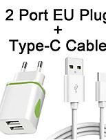 cheap -EU Charger Type C Cable For Xiaomi Pocophone Poco F1 A2 A1 8 Mix 2S Max 3 TypeC Cables Type-C USB C Wire Charging Line