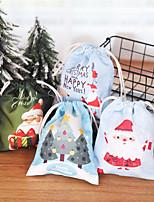 Недорогие -Новогодние подарки санта клаус снеговик конфеты сумки висит сумка