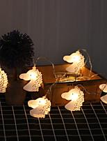 Недорогие -Сделай сам творческий прекрасный форма головы конская лампа лампа 2 м 10 светодиодные украшения хэллоуин фестиваль украшения аа батареи питания 1 шт.