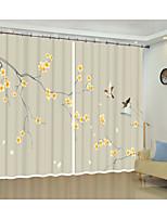 Недорогие -золотой цветок сливы fugui благоприятная охрана окружающей среды цифровая печать 3d занавес тень занавес высокой точности черный шелк ткань высокого качества первый класс гостиная занавес
