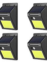 Недорогие -4шт 3 W Солнечный свет стены Водонепроницаемый / Работает от солнечной энергии / Новый дизайн Тёплый белый 3.7 V Уличное освещение / Бассейн / двор 48 Светодиодные бусины