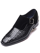 cheap -Men's Formal Shoes Leather Spring & Summer / Fall & Winter Business / Casual Loafers & Slip-Ons Breathable Black / Brown / Blue