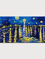 Недорогие -Hang-роспись маслом Ручная роспись - Абстракция Пейзаж Modern Включите внутренний каркас