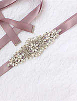 cheap -Satin / Tulle Wedding / Party / Evening Sash With Crystal / Imitation Pearl / Appliques Women's Sashes
