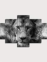 Недорогие -С картинкой Отпечатки на холсте - Абстракция Традиционный Modern 5 панелей Репродукции