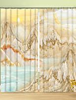 Недорогие -классический мрамор креатив охраны окружающей среды цифровая печать 3d занавес синий и желтый креатив мраморный занавес высокой точности черный шелк ткань высокого качества первый класс гостиная