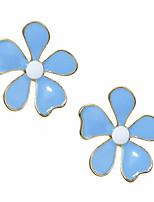 Недорогие -Жен. Серьги геометрический Flower Shape Стиль европейский Мода Крупногабаритные Cool Серьги Бижутерия Синий Назначение Повседневные 1 пара