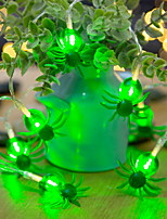Недорогие -1 м светодиодные фея гирлянды 10 светодиодные фонари паук хэллоуин украшения свет
